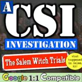 The Salem Witchcraft Trials - A CSI Investigation!  What h