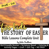 Easter Bible NO PREP Stories, Coloring, Craft, Religious L