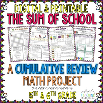 The Sum of School: A Cumulative Math Test Prep Project 5th & 6th Grade