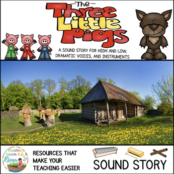 The Three Little Pigs No Prep Sound Story and Drama Masks