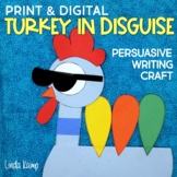 Thanksgiving Pigeon Persuasive Writing Craft Disguise a Turkey