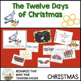 The Twelve Days of Christmas Visuals, Readers, and Coloring