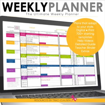 Lesson Plan Templates - Teacher Binder - Plan Book - The Ultimate Weekly Planner