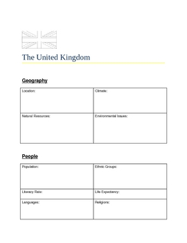 The United Kingdom Atlas Page, Fact Sheet