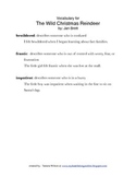 The Wild Christmas Reindeer, by Jan Brett: Vocabulary Activities