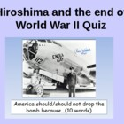 The end of World War 2: Why did the USA drop the atomic bo