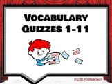 Theatre Arts/Drama Vocabulary Quizzes 1-11