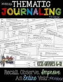 Thematic Journaling: Recall, Observe, Improve, For an Entire Year