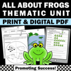 Frogs Math & Literacy Centers Life Cycle Summer Packet Mat