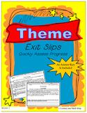 Theme Common Core Exit Slips Grades 6th to 8th