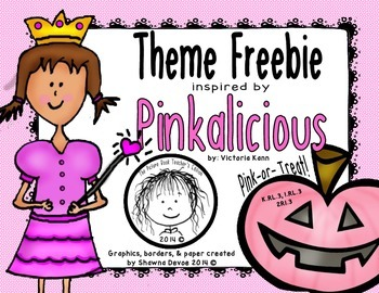 Theme Freebie inspired by Pinkalicious Pink or Treat by Vi