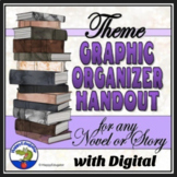 Theme Graphic Organizer Handout for Any Novel or Short Story