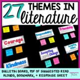 Theme in Literature Common Core Bulletin Board Labels