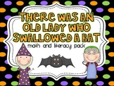 There Was An Old Lady Who Swallowed A Bat {Math and Literacy}