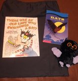 There Was An Old Lady Who Swallowed a Bat Story Bag