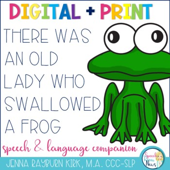 There Was an Old Lady Who Swallowed A Frog Speech & Language  Activities