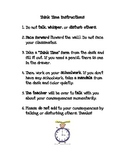 Think Time Student Timeout Instructions & Behavior Form