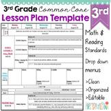Third Grade Common Core Lesson Plan Template