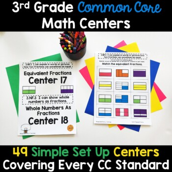 Third Grade Common Core Math Centers