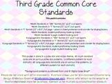 Third Grade Common Core Pack