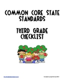 Third Grade Common Core State Standards Checklist