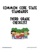 Third Grade Common Core State Standards Checklist