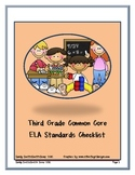 Third Grade ELA Common Core Standards Checklist