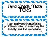 Third Grade Newly Revised Math TEKS Cards