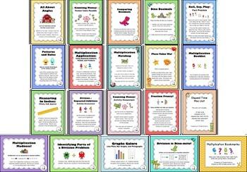 Third Grade Mathematics Centers/Activities Bundle