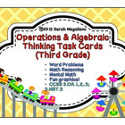 Third Grade Operations & Algebraic Thinking Math Task Cards