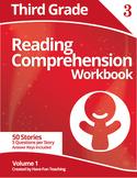 Third Grade Reading Comprehension Workbook - Volume 1 (50