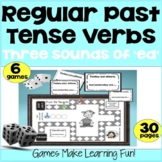 "Past Tense Verbs - Three Sounds of ""ed"" - Grammar Games -"