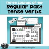"Past Tense Verbs - Three Sounds of ""ed"" - Grammar Games an"