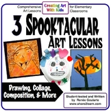Art Lessons for Halloween - Three Spooktacular Activities