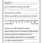 Through Your Eyes: Parent Questionnaire