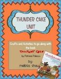 Thunder Cake Book Unit