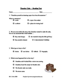 Thunder Cake Reading Comprehension Quiz/Test ~ Houghton Mifflin®
