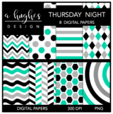 Thursday Night {12x12 Digital Papers for Commercial Use}