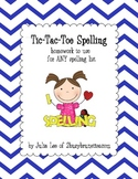 Tic-Tac-Toe Homework for Spelling