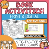 Tic-Tac-Toe Literature Activity Choice Grids - Use with Any Book!