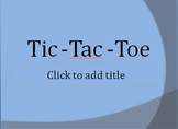Tic-Tac-Toe PowerPoint Game Template