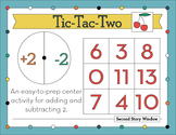 Tic-Tac-Two Easy-to-Prep Addition and Subtraction Center