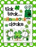 Tick Tock Shamrock Clocks: Telling Time to the Quarter Hour