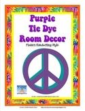 Tie Dye Classroom Mega Decor Pack