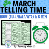 """Time Marches On""  1st and 2nd, Telling Time Activities Co"