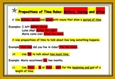 Time Prepositions, Gandhi Reading, Vocab, Writing, Instruc