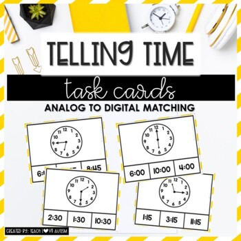 Time Task Cards Level 2