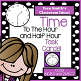 Time to the Hour and Half Hour Task Cards and Recording Sheet