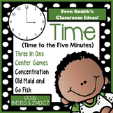 Time To the Five Minutes Center Games For 1.MD.B.3