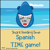 Time in Spanish: Review Game: Shark Tank! La Hora y Numeros